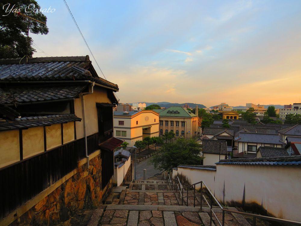 高台からの町並みと日が落ちてからの美しさ