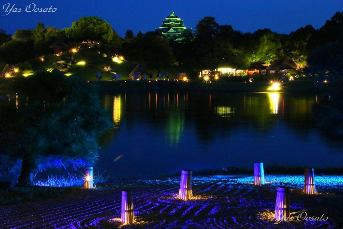 沢の池と光の演出