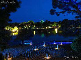 岡山城と後楽園の幻想的な夜間公開は春・夏・秋だけの美しさ|岡山県|トラベルjp<たびねす>