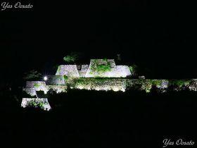 朝来・竹田城跡は雲海だけじゃない!暗がりに白き天空の城