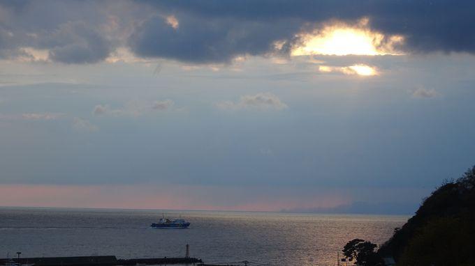 西伊豆海岸は夕日のメッカ