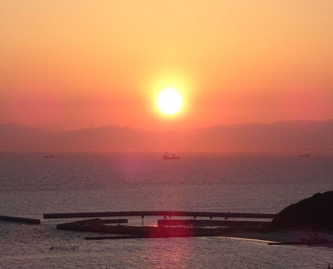 高台からの夕陽は間違いなく南知多でナンバーワン