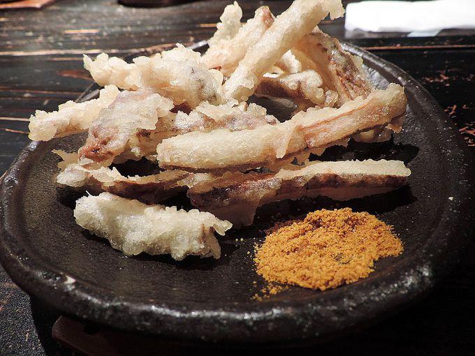 カレーうどんとの相性抜群のサクサク食感のゴボウ天ぷら