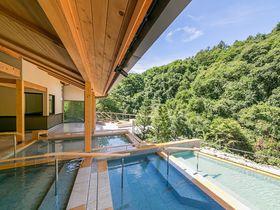 渓流露天風呂「棚湯」を楽しむ!蓼科グランドホテル滝の湯