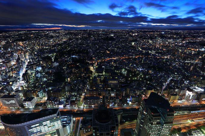 南西方面の夜景〜横浜郊外や富士山〜