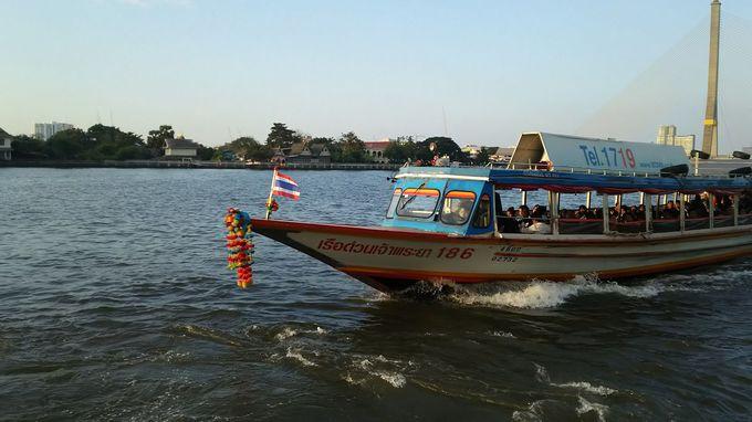 隣接のシープラヤー船着き場から寺院観光!ショッピングはリバーシティー!豪華なシャトルボードも便利