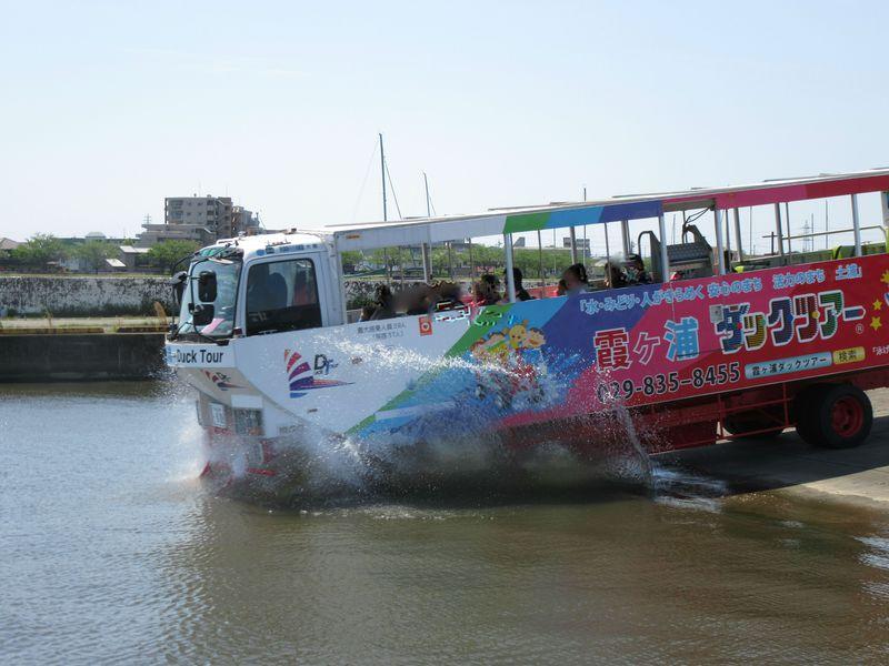 「霞ヶ浦ダックツアー」はバスのまま湖にバッシャーンな不思議なツアー!