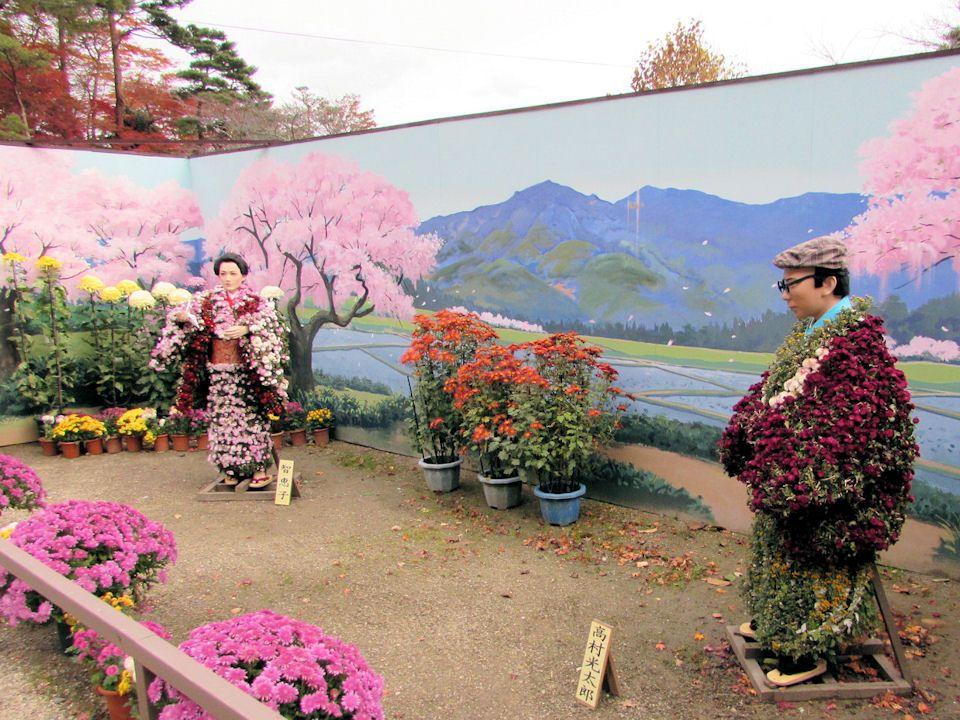 智恵子と光太郎は「二本松の菊人形」にも度々登場