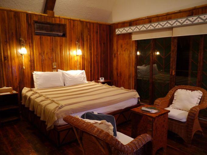 自然素材でできた部屋