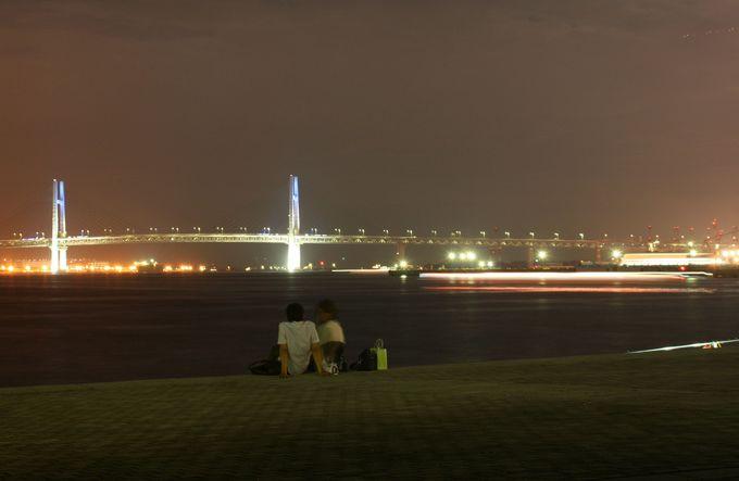 海を隔てて横浜の夜景を見るなら臨港パーク