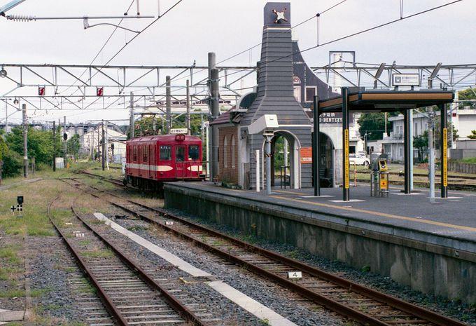 JR銚子駅の先端に小さなプラットホームが…