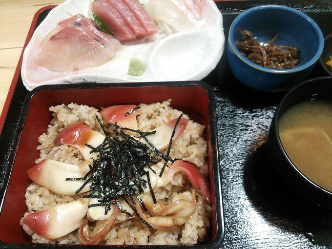 ホッキ飯定食(刺身付き)