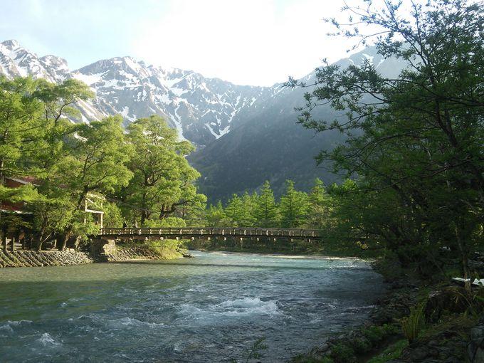 上高地のシンボル河童橋