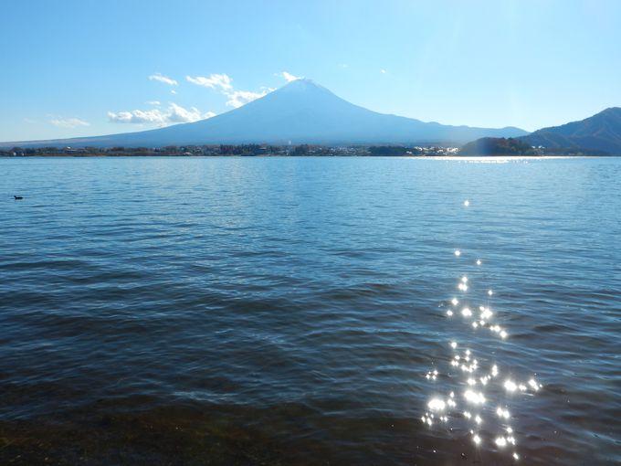 湖北ビューライン 河口湖畔からの絶景富士