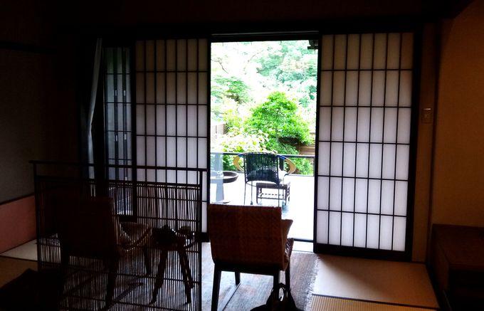 眺めの良さも長生館の特別室人気のポイント