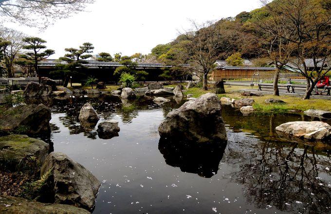 松山城二之丸史跡庭園の全体像