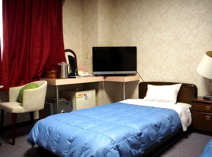 ホテルの機能性と旅館の安らぎを掛け合わせた客室