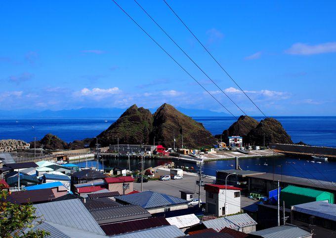 津軽半島の先端で静かにたたずむ「帯島」