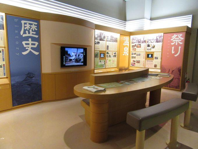 上山城の中にある郷土歴史資料館
