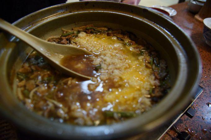 お鍋の中を空っぽにするのがツウの食べ方!