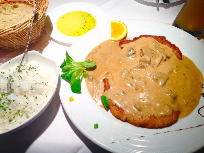 フランクフルト一美味しいシュニッツェルなら「レーマー・ピルス・ブリューネン」