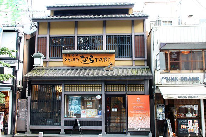 奈良公園入り口、手ぶら観光が実現!観光案内クロネコならTABI