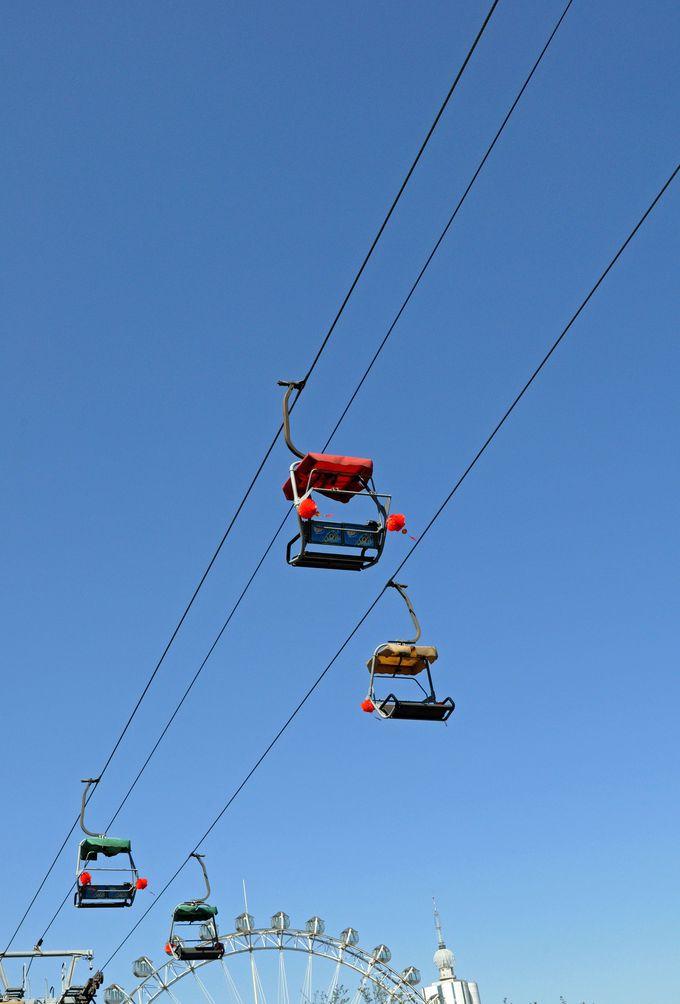 最後は大連労働公園と緑山の大連タワーを結ぶ「空中リフト」で遊ぼう