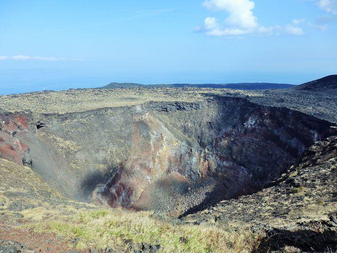 1986年には溶岩がたまっていた火口