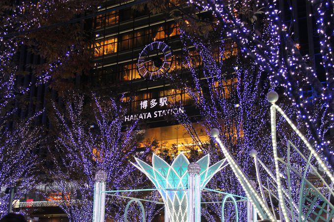 JR博多駅前広場「光の街・博多」イルミネーション