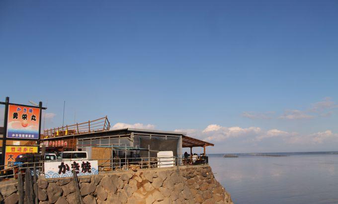 漁師直営カキ小屋だから、ぷりっぷり牡蠣がリーズナブルに食べられる!