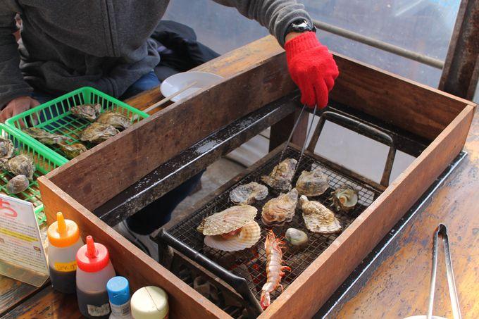 BBQ気分でハフハフ焼き牡蠣召し上がれ!