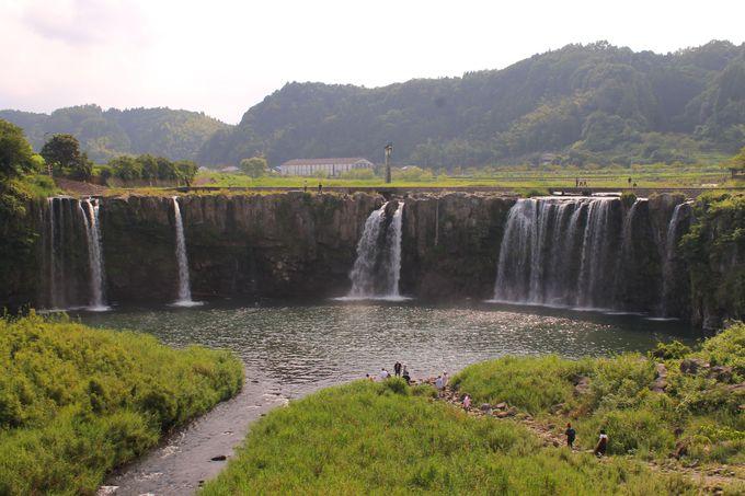 「原尻の滝」平野の真ん中に姿を現す巨大滝!