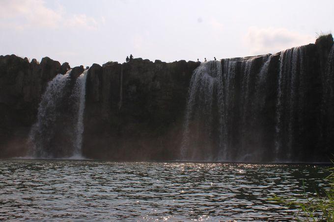 「原尻の滝」滝つぼの淵までウォーキング!