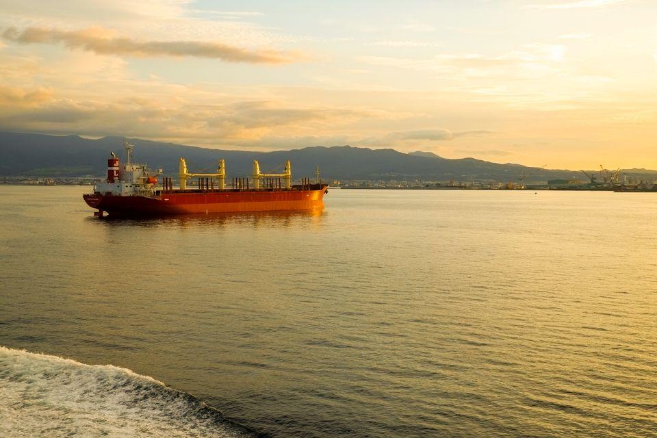 黄金色の函館湾