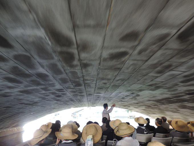 頭上すれすれの橋をくぐって日本橋川と隅田川から東京見物