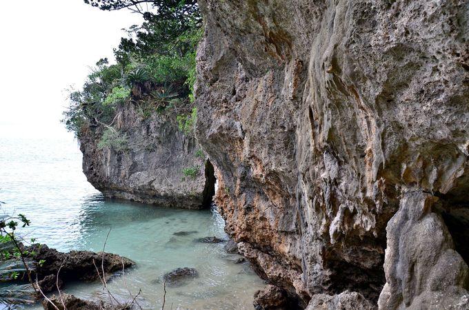 洞窟を抜けて感動の海へ!