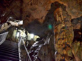スリル満点!垂直下降の梯子で降りてゆく京都「質志鍾乳洞」|京都府|トラベルjp<たびねす>
