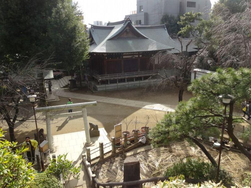 富士塚頂上からの眺望