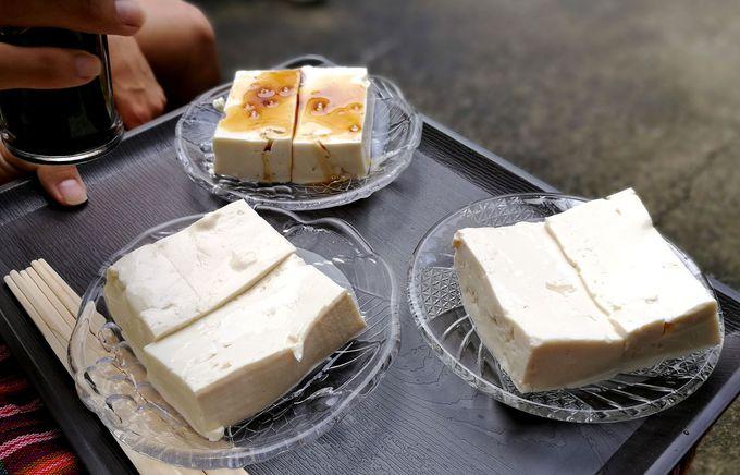 洞川温泉名物の「名水豆腐」をご賞味あれ