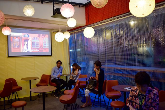 台湾のレトロな雰囲気が漂う店内