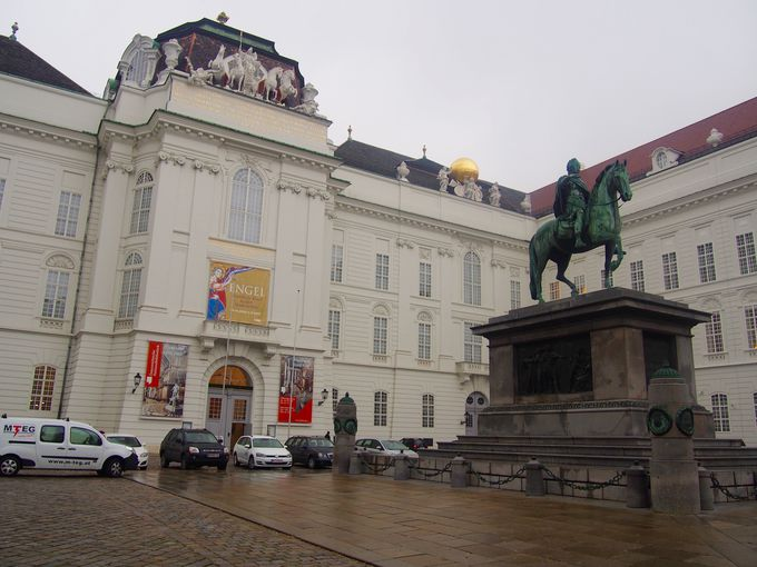 ウィーン王宮に併設された国立図書館