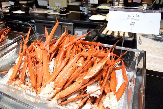 リピーターも多数!ハプナ名物の「ゆで蟹」