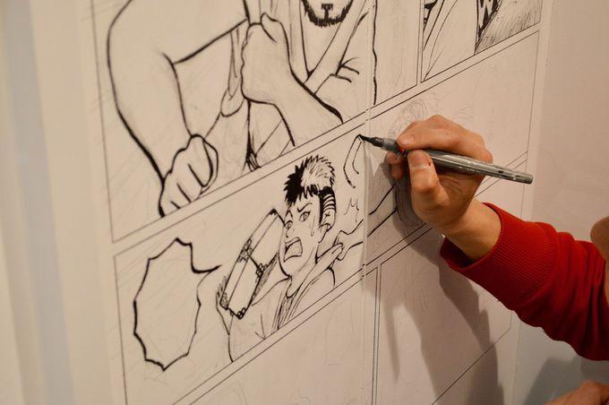 トイレ内の漫画とその制作風景を公開!