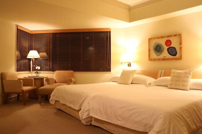 大理石のバスルームがある客室はすべてコーナールーム