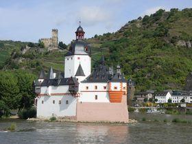 ライン川の上のたんこぶ?ドイツ「プファルツ城」は小粒な水上城砦