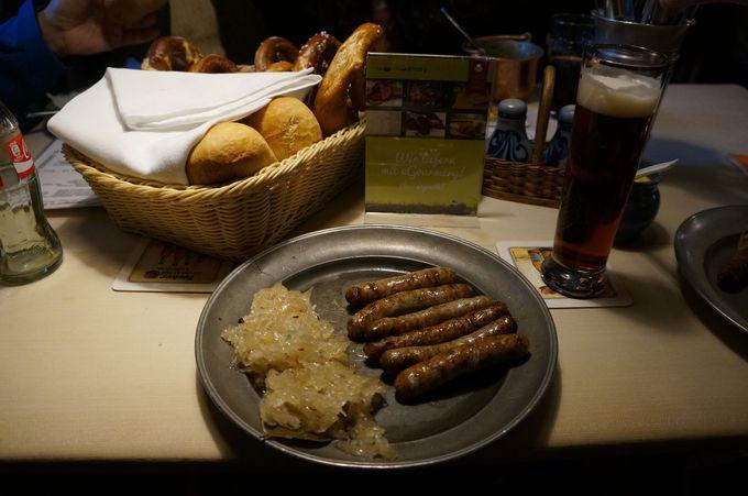 ニュルンベルガー・ソーセージを食べるなら