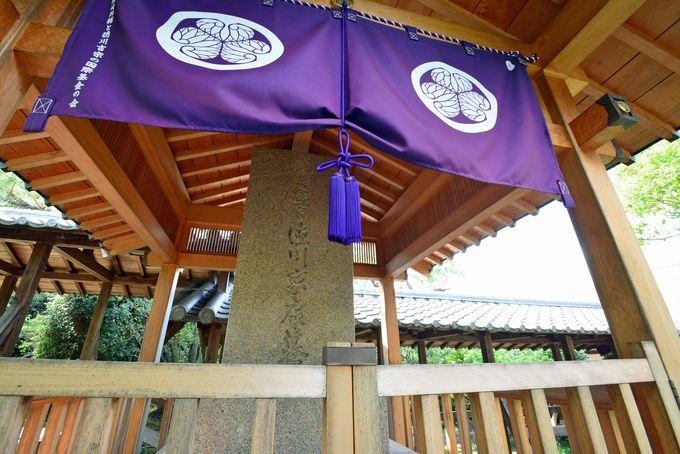 寺の中でひと際目立つ「徳川家康の墓」