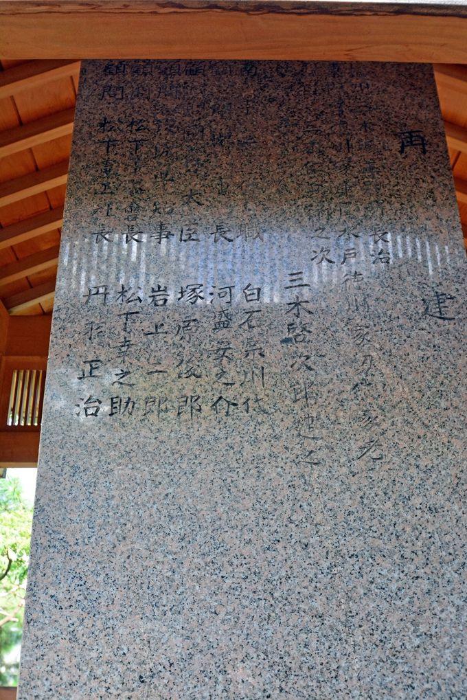 墓の裏にある松下幸之助の名前