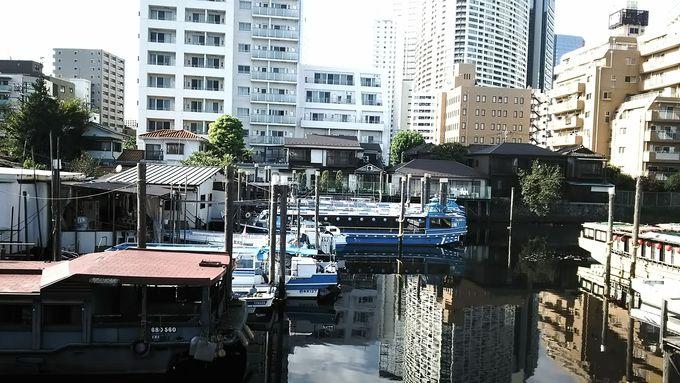 """近代的な街並みと品川宿の面影を残す景観を""""船どまり""""から眺める"""