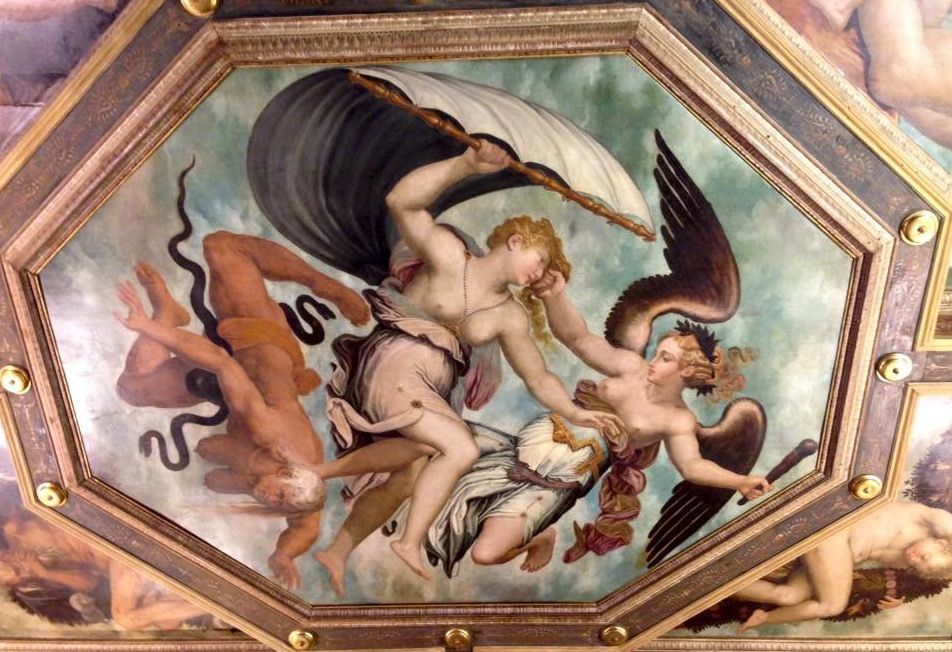 美しいフレスコ画の残る邸宅、ヴァザーリの家